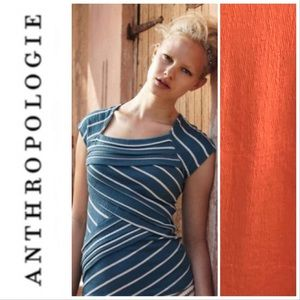 Anthropologie Postmark Asymmetrical Pleated Top L